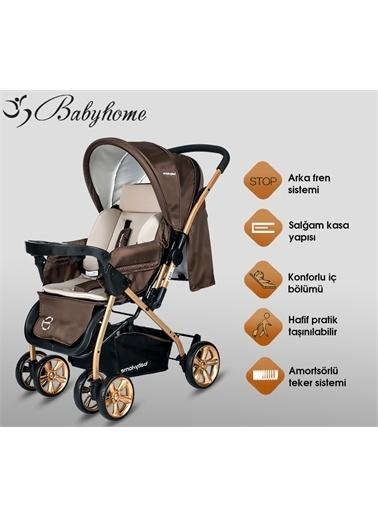 Baby Home Baby Home Bh-760 Gold Çift Yönlü Bebek Arabası Kahve